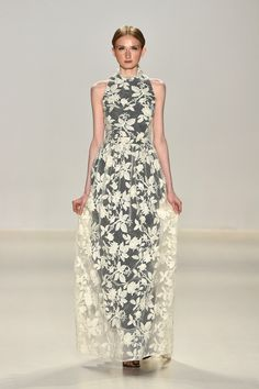 The Best Dresses From New York Fashion Week  - ELLE.com I like this if I marry in my late forties early fifties I would wear a dress like this for my wedding =)