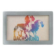 Dachshund dog  - Doxie Rectangular Belt Buckle - accessories accessory gift idea stylish unique custom