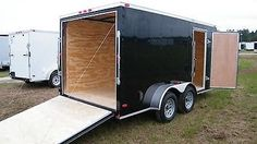 80593 heavy-equipment 7x14 Enclosed Trailer Cargo V Nose 16 Motorcycle Box 8 Lawn Tandem 2016 New CALL  BUY IT NOW ONLY  $3050.0 7x14 Enclosed Trailer Cargo V Nose 16 Motorcycle Box 8 Lawn Tandem 2016 New CALL...
