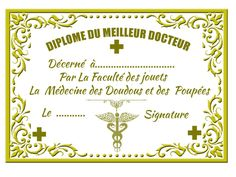 French doctor's diploma for dolls The Cask Of Amontillado, Free Frames, Japanese Patterns, Paper Toys, Pattern Books, Spooky Halloween, Mini Books, Certificate, Higher Education