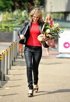 Charlotte Hawkins seen leaving the London studios