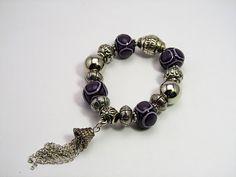 polymer clay bracelet handmade by me