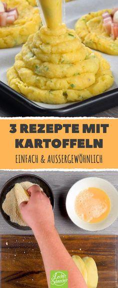3 extraordinary recipes with potatoes - We have made three special and very simple recipes with potatoes. They come out of the oven and are - Cooking On The Grill, Cooking Time, Homemade Pesto Sauce, Dry Chickpeas, Mini Sandwiches, Dried Mangoes, Baked Chips, Roasted Almonds, Pumpkin Dessert