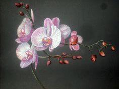 Orchids pastel painting Step-by-step demonstration by Tatyana Bondareva