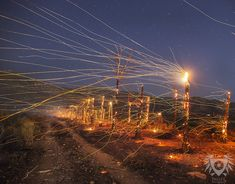 Dynamic Nighttime Long-Exposure Photos of California's Roaring Wildfires - My Modern Met