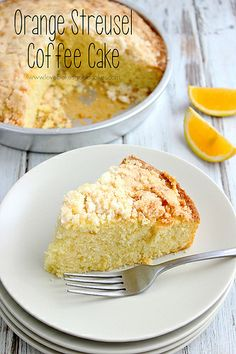 This Orange Streusel Coffee Cake is perfect for breakfast or dessert with its light orange flavor and tender crumb. #coffeecake #breakfast #...