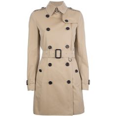 BURBERRY LONDON double breasted trench coat ($1,690) ❤ liked on Polyvore featuring outerwear, coats, jackets, coats & jackets, tops, double breasted coat, cotton trench coat, burberry coat, double breasted trench coat and trench coat