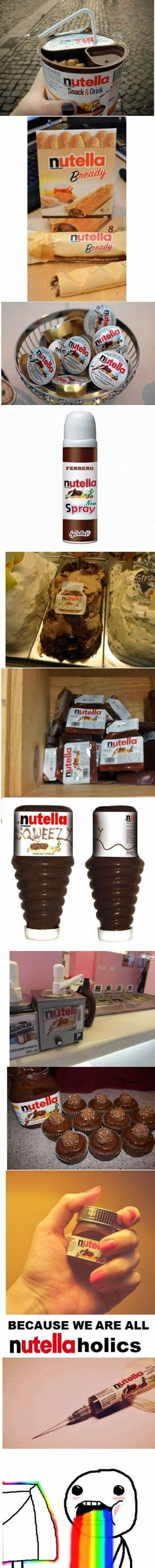 I want Nutella right now. Nutellaholic!  @Rheanne Parsons