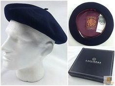 56231f76565 LAULHERE Vrai Basque French BERET 100% Wool MADE IN FRANCE Impermeable  Heritage