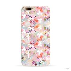 Iphone 7 Soft case Colorful Flowers Plum flower rose Design painted Cases
