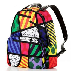 2016 Hot Sale Brand Printed Women Vintage Double Shoulder Bag Multi Color Ropes School Travel Bags Satin & PU Graffiti Backpack