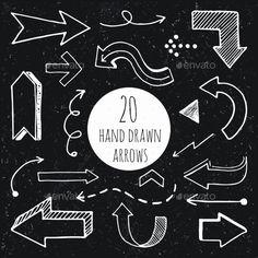 Hand Drawn Arrows. - Web Elements Vectors
