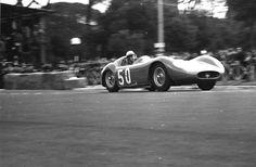 Jean Behra driving in the 1956 - Gran Premio Supercortemaggiore - Monza