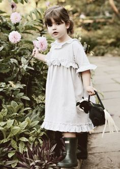 wellies and a dress...so cute. (fiction) Valerie Jean Barwick - Aubrie's mother - age 4