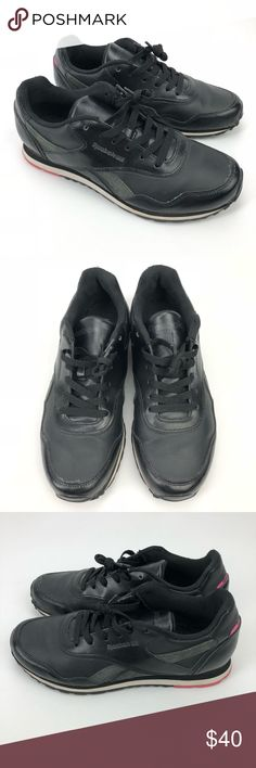buy online 36334 cdb7d Vintage REEBOK Classic Women s 9.5 Black Leather Vintage REEBOK Classic  Shoes Women s 9.5 Black Leather