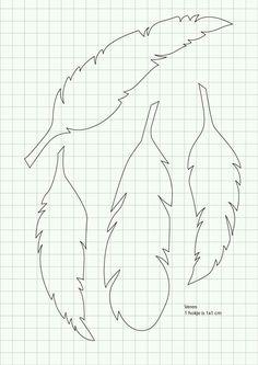 Molde para plumas de papel