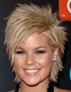 Kimberly Caldwell Hairstyles 2015 : Kimberly Caldwell Short Sharp Hair 2015