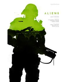 Aliens ~ Minimal Movie Poster by Joseph Harrold Best Movie Posters, Classic Movie Posters, Minimal Movie Posters, Movie Poster Art, Cool Posters, Classic Films, Alien Vs Predator, Aliens 1986, Aliens Movie