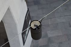 The Ronstan Tensile Architecture Catenary Lighting System luminaire provides warm contrast and directional lighting from a suspended cable net. At University of Queensland, Oral Health