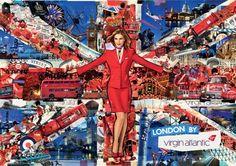 virgin-atlantic-union-jack-ad Timeline Cover Photos, Facebook Timeline Covers, Virgin Atlantic, Union Square, Cabin Crew, British Style, British Fashion, Union Jack, Britain