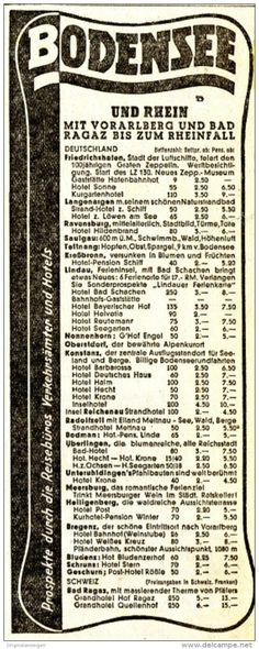 Original-Werbung/ Anzeige 1938 - BODENSEE UND RHEIN - ca. 60 x 160 mm
