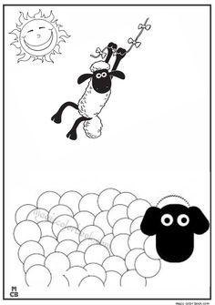 Shaun the sheep cartoon coloring