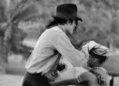 Michael Jackson in Africa with the children