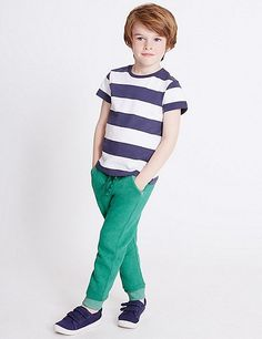 Cotton Rich Joggers (3 Months - 5 Years) | Marks & Spencer London