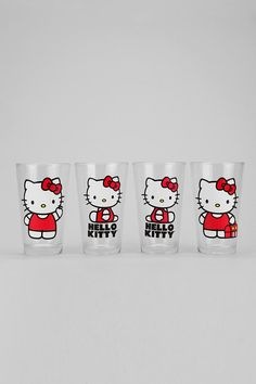 Hello Kitty Pint - Set Of 4  why do i not have these yet!?!?!?!!?!?!?!?