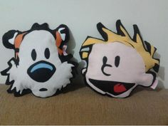 Calvin & Hobbes pillows. these are adorable, and I really, really, really want them n_n