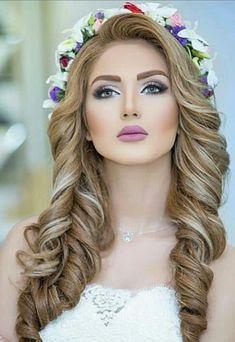 Romantic Hairstyles, Bride Hairstyles, Trendy Hairstyles, Bridal Makeup For Blondes, Bridal Makeup Looks, Dramatic Wedding Makeup, Elegant Wedding Hair, Girl Haircuts, Cute Little Girl Hairstyles