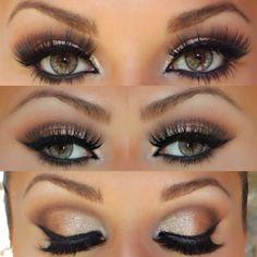 Make up night , make up glamour , maquillaje vibrante