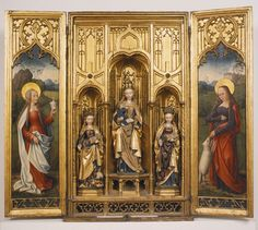 Virgin with Child, Catharine, Barbara, Mary Magdalene and Agnes (reredos), ca. 1500