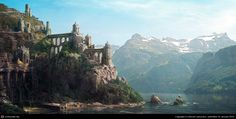 Abandoned city - quick matte painting by Benoit Ladouceur | 2D | CGSociety