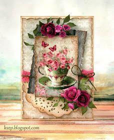 Klaudia/Kszp: Z filiżanką pełną kwiatów