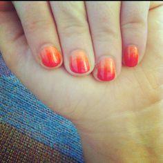 Sunset ombré nails