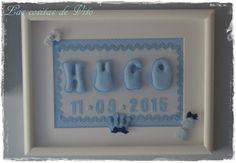 Cuadro para Hugo con la fecha de su nacimiento