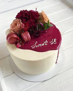 "2,021 Likes, 9 Comments - Cakeideasfoto (@cakeideasfoto) on Instagram: ""Repost @anastasiiafilipova #cake #cakes #cupcake #cupcakes #cakeart #cakeporn #cakelover…"""