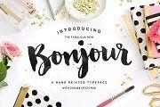 Bonjour! Typeface with Extras - Script - 1