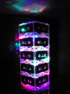 Recycled Upcycled Cassette Tape Lamp Night Light
