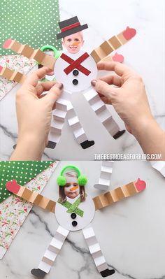 Winter crafts for kids - Paper Snowman Craft – Winter crafts for kids Christmas Crafts For Kids To Make, Xmas Crafts, Kids Christmas, Fun Crafts, Kids Winter Crafts, Christmas Videos, Kids Thanksgiving, Prim Christmas, Christmas Paper