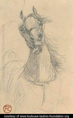 Tete de cheval 2 - Henri De Toulouse-Lautrec - www.toulouse-lautrec-foundation.org