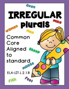 Irregular Plural Nouns from RockPaperScissors on TeachersNotebook.com (12 pages)