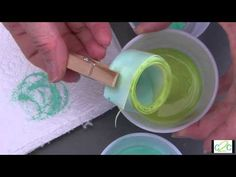 How to Make Hand-Dyed Ribbon Flowers - YouTube
