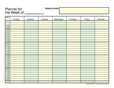 3 day planner template