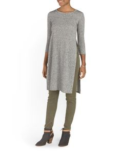 Juniors+Side+Slit+Tunic