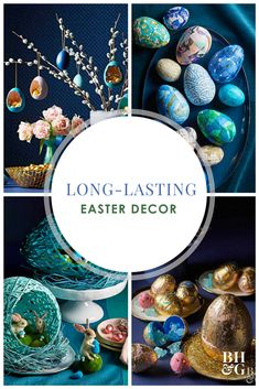 Getting into the Easter spirit invariably involves eggs—lots of them. And while dyed is nice, this year put some new-style eggs in your basket with these cracked, wrapped, gilded, and papered techniques that will keep until next year. #easter #eastereggs #easterdecor #eastercrafts #diy