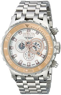 Men's Wrist Watches - Invicta Mens 14034 Subaqua Reserve Chronograph Silver Dial Stainless Steel Watch *** More info could be found at the image url. (This is an Amazon affiliate link)