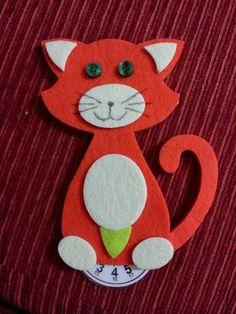 Disco Orario a forma di gatto, in feltro