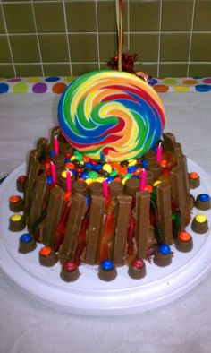 My 2nd Oldest Daughter Known As Our Sugar Girl Wanted A Candy Cake Homemade Birthday